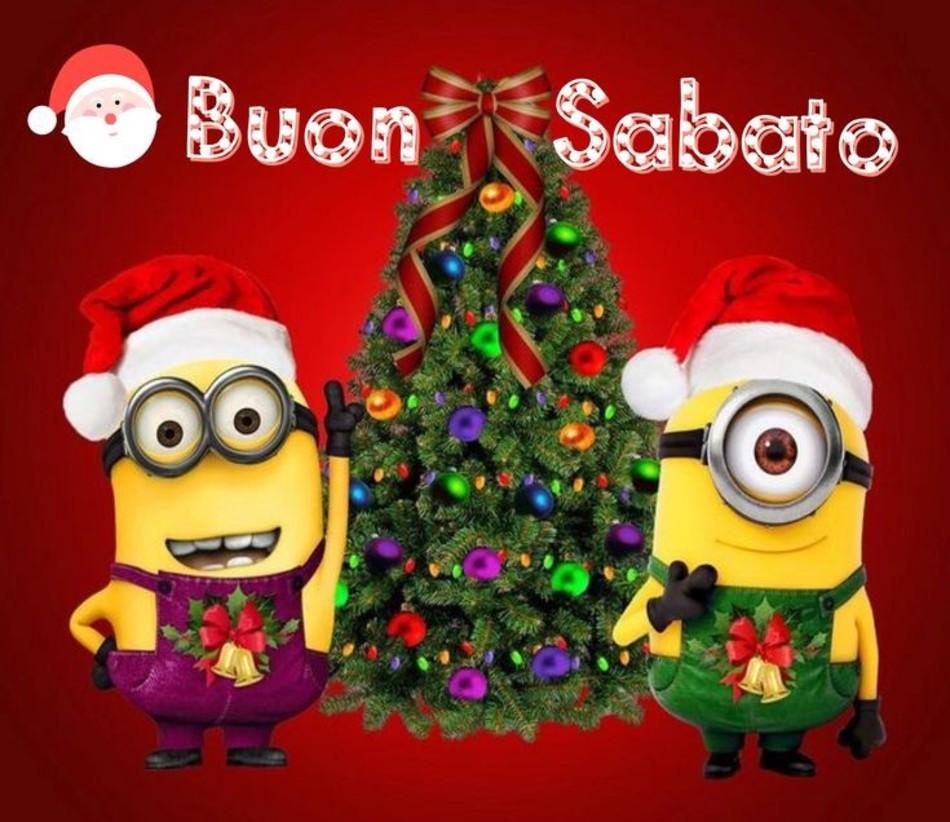 Buon Sabato Minions Natale Buongiornocolsorrisoit