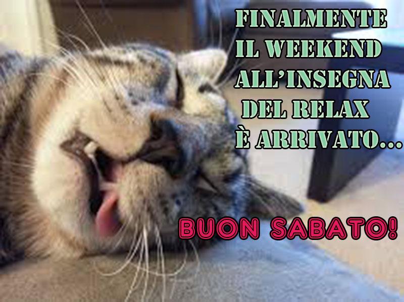 immagini Buon Sabato relax weekend