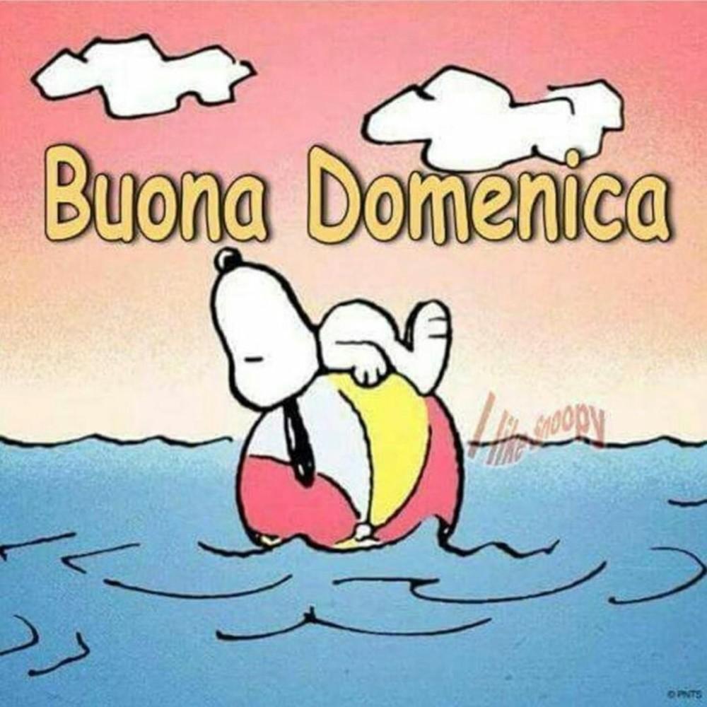 immagini buona domenica Snoopy al mare