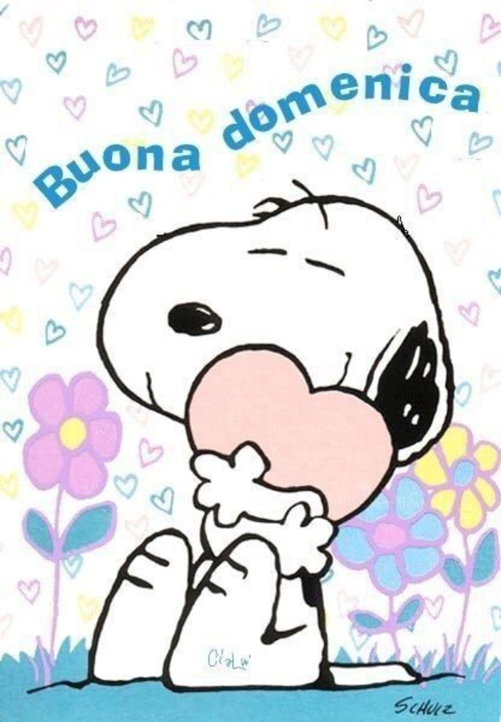 immagini buona domenica Snoopy
