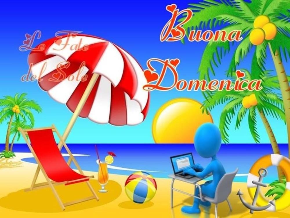 immagini buona domenica spiaggia estate