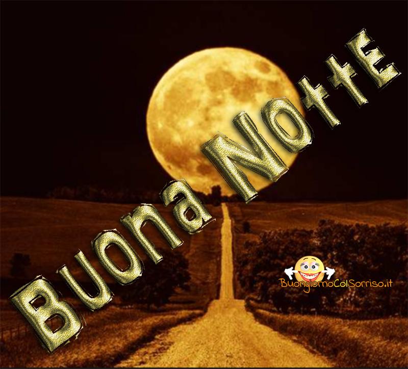 belle immagini buona notte luna piena