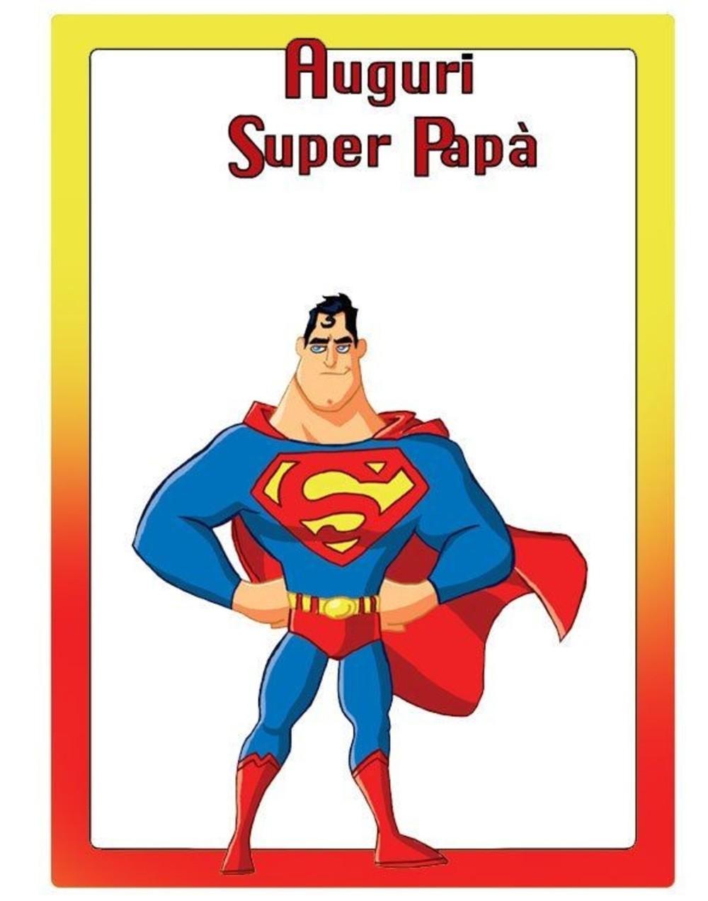 immagini festa del papà supereroe